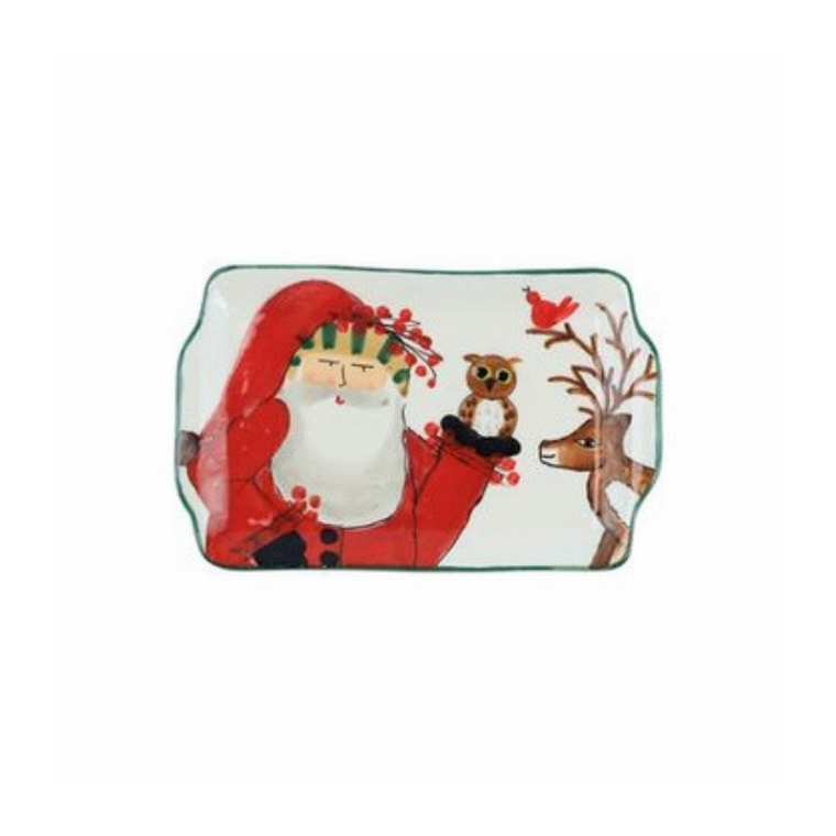 Vietri Old St. Nick Rectangular Plate