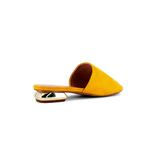 Yellow Slip On Mule