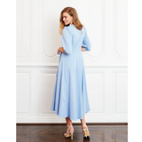 Diane Blue Stripe Wrap Dress
