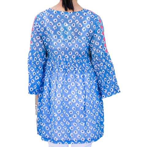Ikat Dress Blue