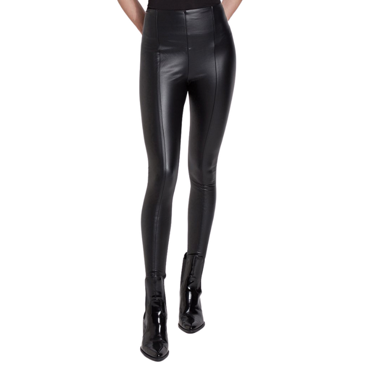 Hi-Waist Vegan Leather Leggings