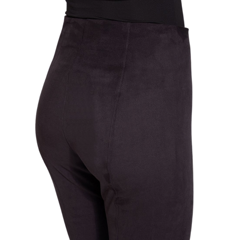 Hi-Waist Suede Leggings