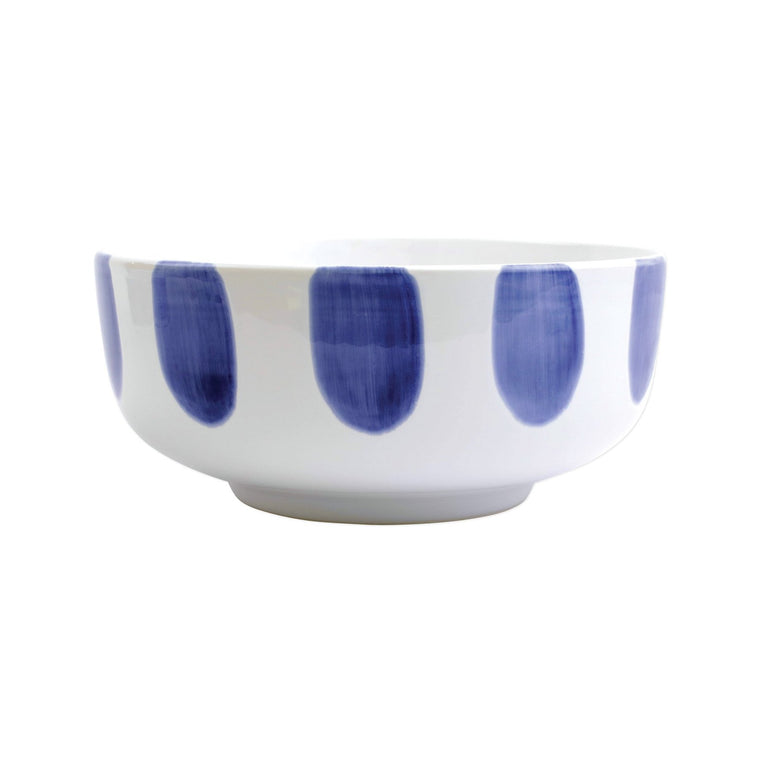 Vietri Santorini  Dot Large Footed Serving Bowl