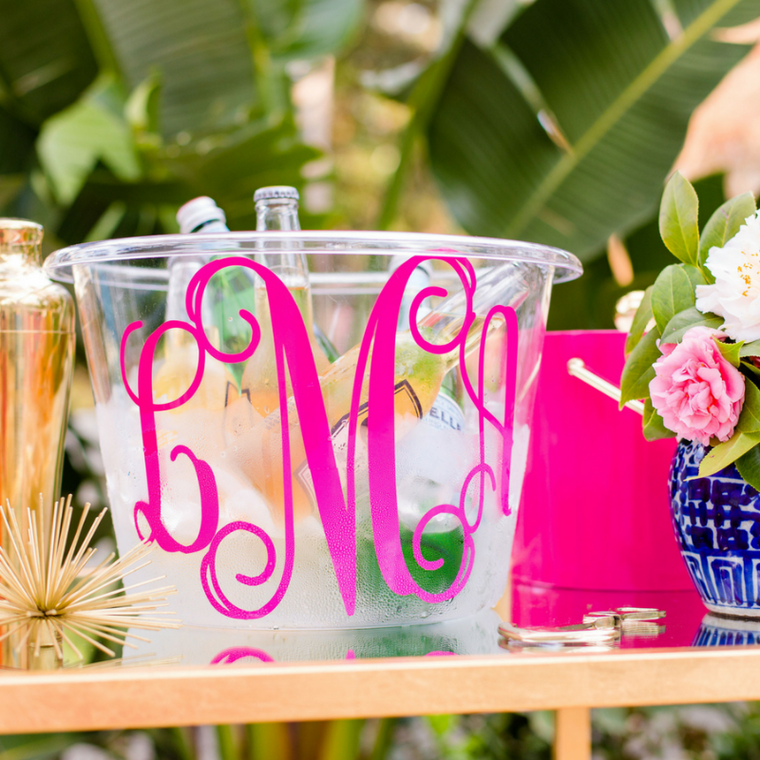 Personalized Acrylic Beverage Tub