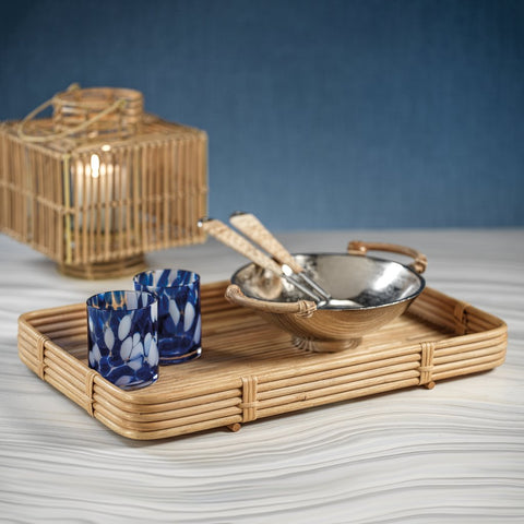 Avalon Rattan  Serving Tray