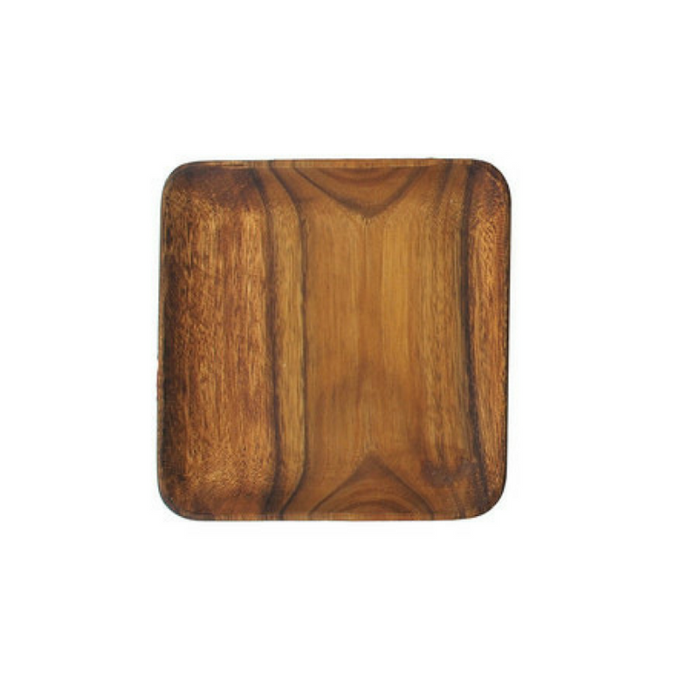 Small Square Acacia Serving Plate