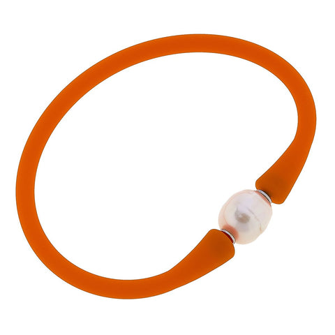 Bali Freshwater Pearl Silicone Bracelet (multiple colors)