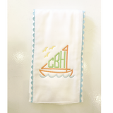 Pique & Ric Rac Burp Cloth