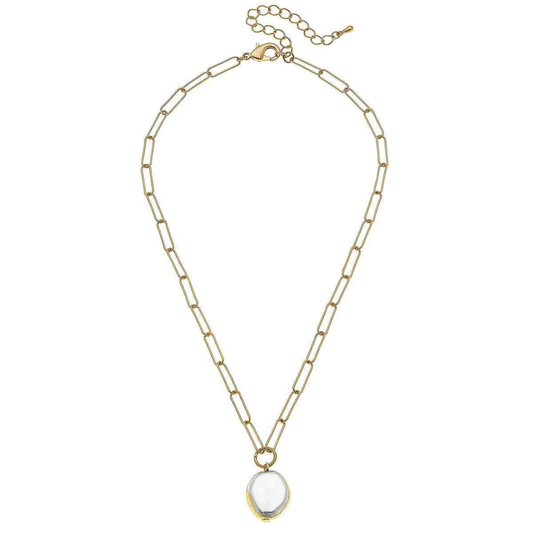 Camille Necklace in Ivory Pearl