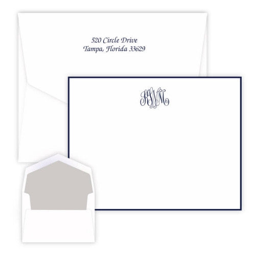 Classic Raised Ink Monogram Card