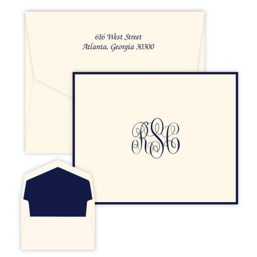Delavan Raised Ink Monogram Note