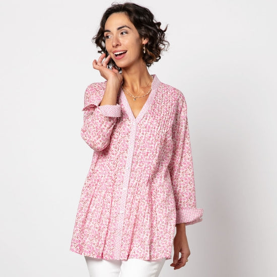 Colette Pink bluCotton Pintuck Tunic