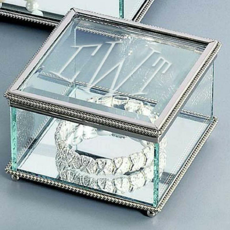 Personalized Square Glass Box