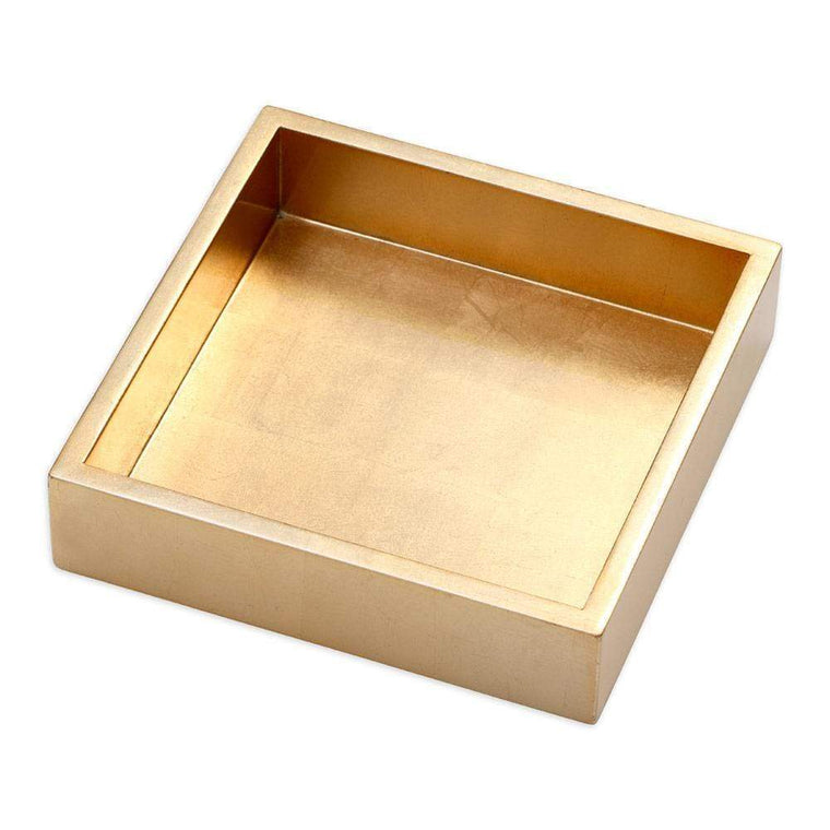 Lacquer Luncheon Napkin Holder Tray Gold