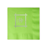 Bamboo Monogram Cocktail Napkin