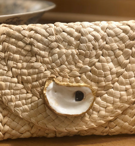 Holly Shae Design Straw Clutch