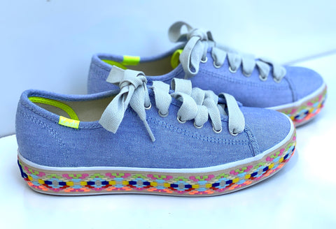 Keds Triple Kick Summer Jute Blu