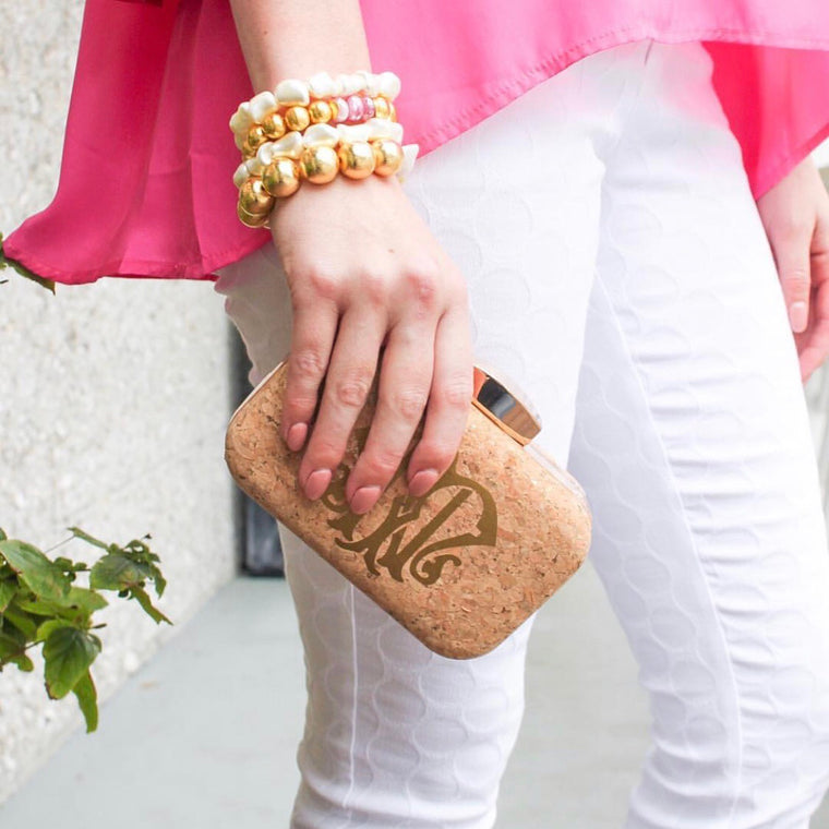 Personalized Cork Clutch