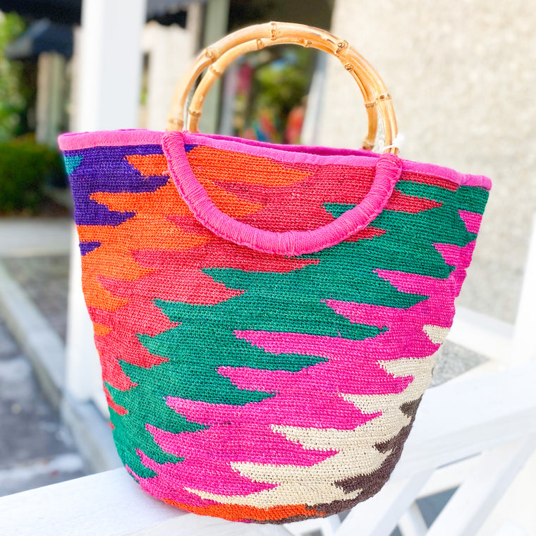 Large Bamboo Handle Tote