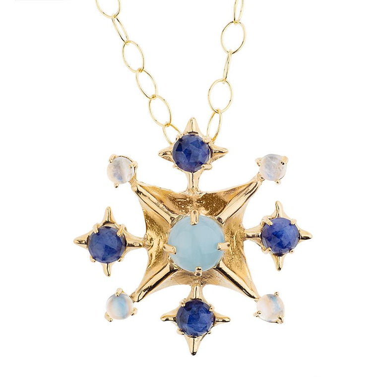 Hazel Smyth Pagoda Maltese Cross On Chain