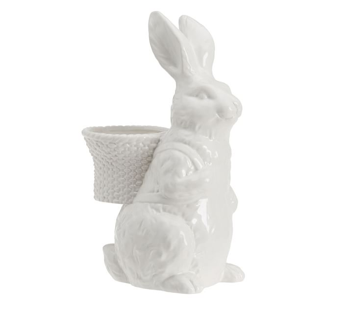 Ceramic Cottontail Rabbit Carrying Pot