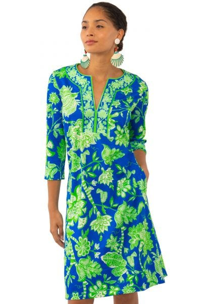 Gretchen Scott Jersey Split Neck Dress