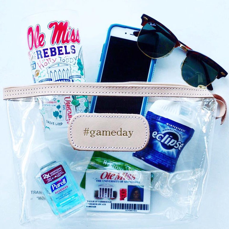 Clear #gameday travel bag