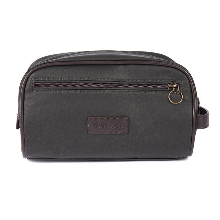 Barbour Wax Washbag Olive