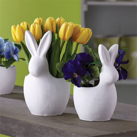 Large White Rabbit Cachepot 10.5
