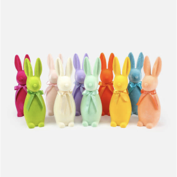 Flocked Button Nose Bunny 16
