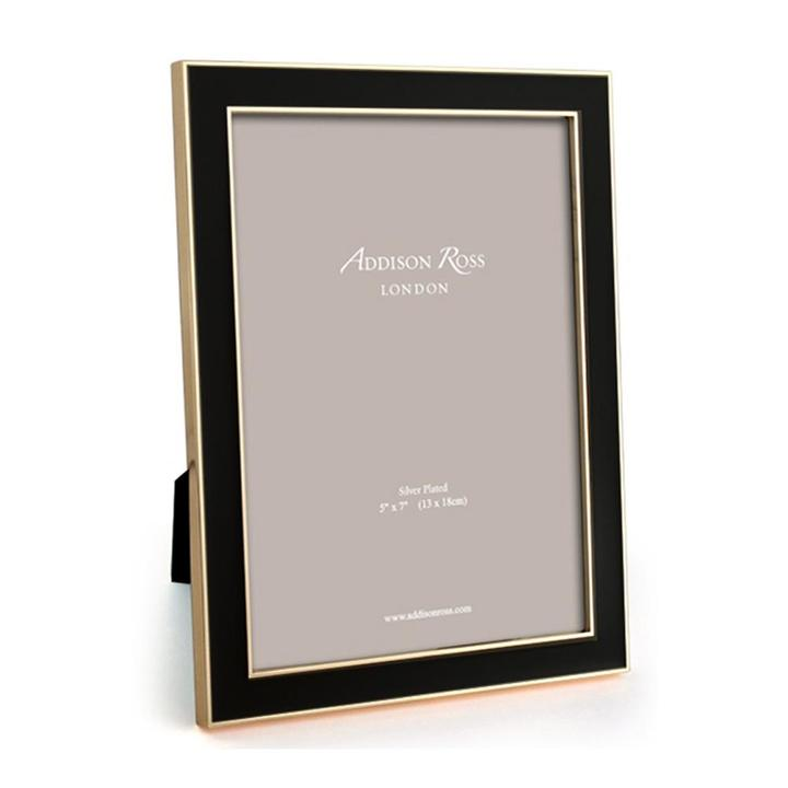 Addison Ross Black Enamel & Gold Frame