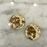 Round Hammered Earrings by MAC Collection