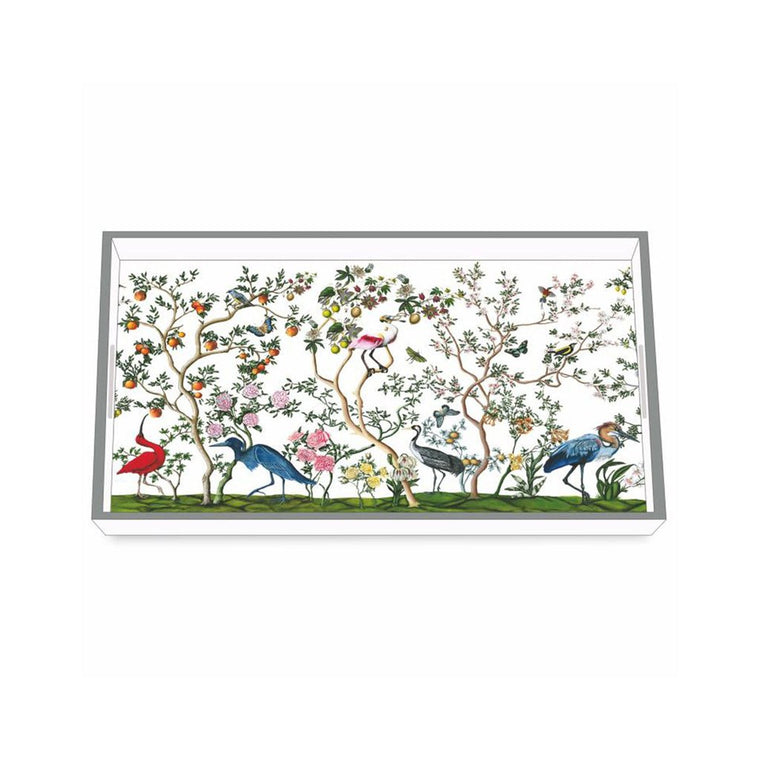 Bird & Branch Chinoiserie Wooden Tray