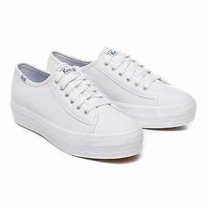 Keds Triple Kick White Leather Sneakers
