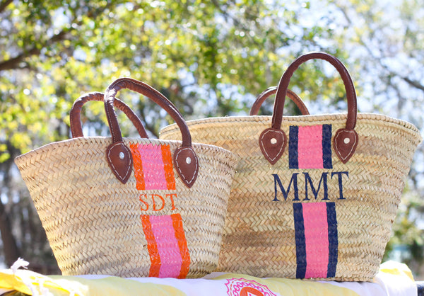 Hand Painted Stripe Tote