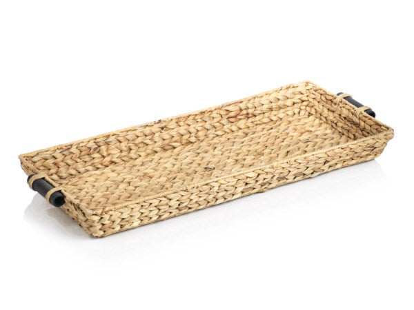 30-Inch long Water Hyacinth Rectangular Tray