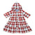 Baby Girls Hooded Dress With Roll Up Sleeve