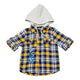 Baby Boys Hooded Shirt With Roll Up Sleeve