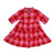 Baby Girls Band Collar Check Dress