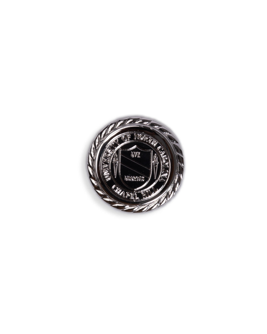 UNC Seal Sterling Silver Rope Edge Cufflinks