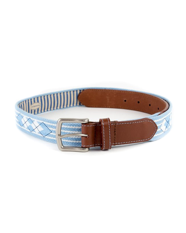 Argyle Seersucker Striped Belt