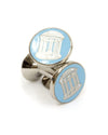 UNC Old Well Hand Made Enamel Cufflinks