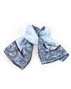 Blue Heaven Silk Scarf With Black Bord
