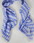Argyle Silk Scarf Ivory/Carolina Blue