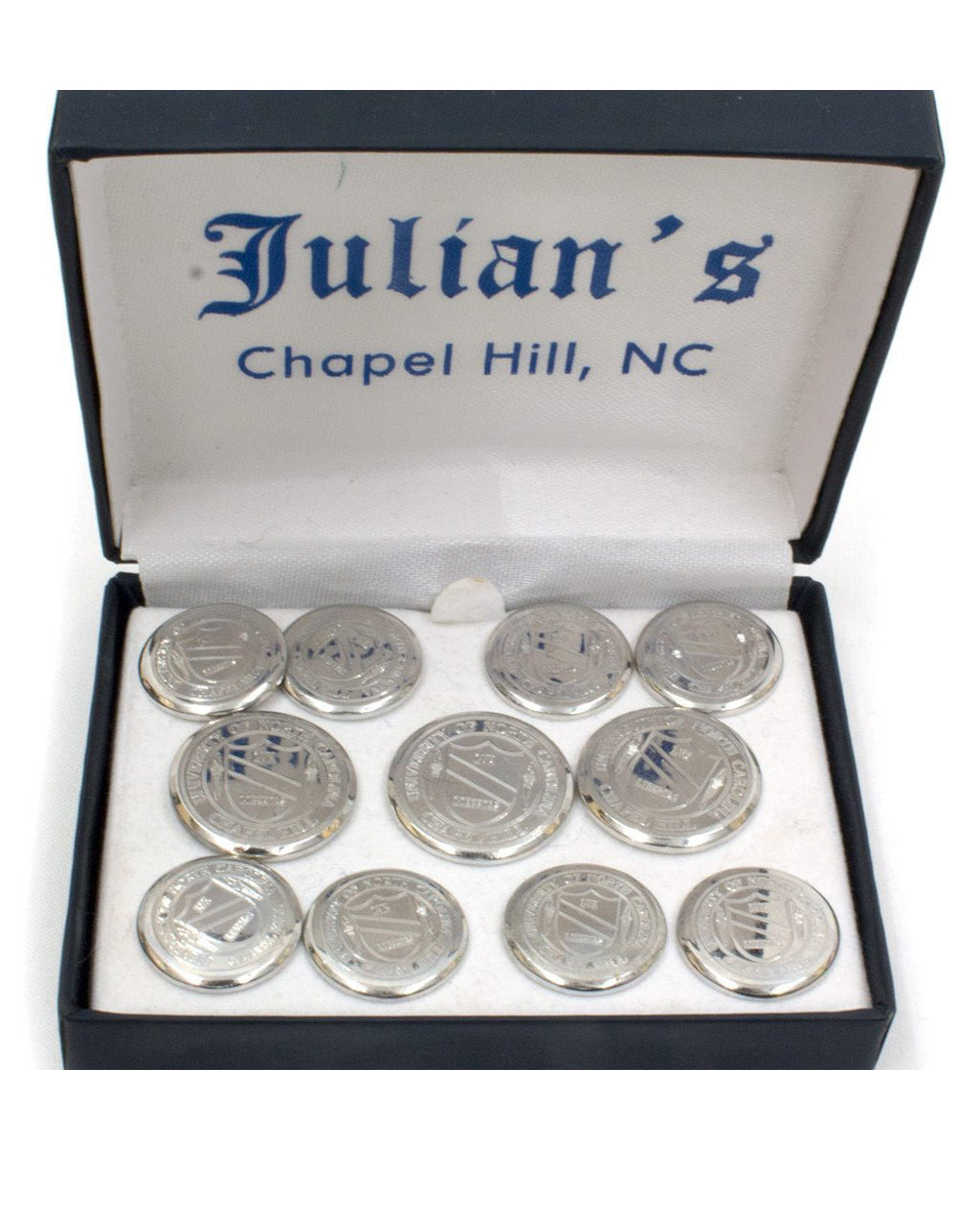 UNC Seal 3X8 Sterling Silver Buttons