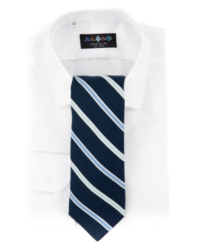 Navy Pima Cotton Sateen Necktie