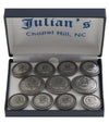 Seal 3x8 Pewter Button Set