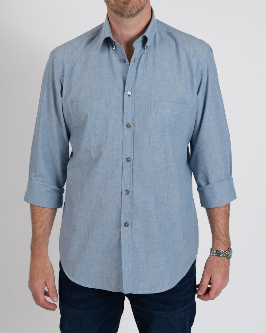 Chambray Paint Splatter Shirt