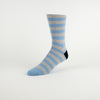 Blue & Grey Stripe Cotton Socks