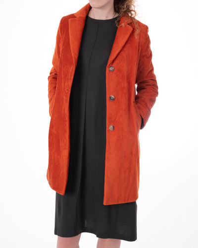 Orange Corduroy Coat